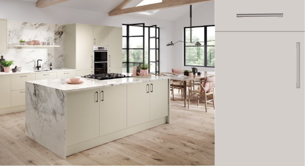Firbeck Super Matt Cashmere Kitchen Door