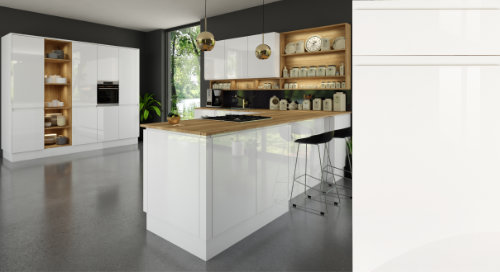Jayline Super Gloss White Kitchen