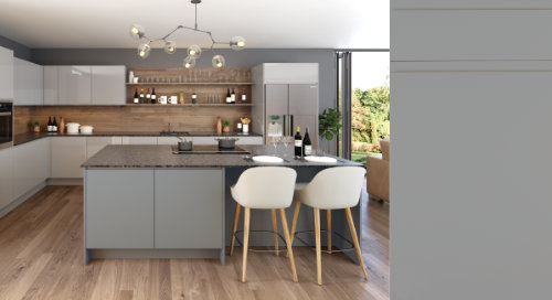 Jayline Super Matt Dust Grey Kitchen