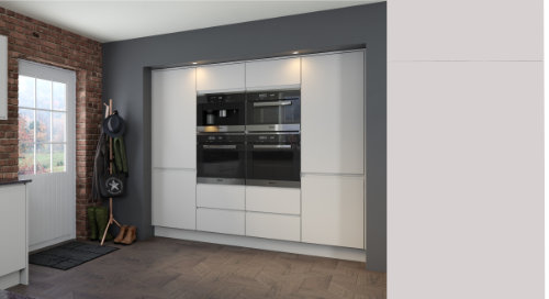Jayline Super Matt Light Grey Kitchen